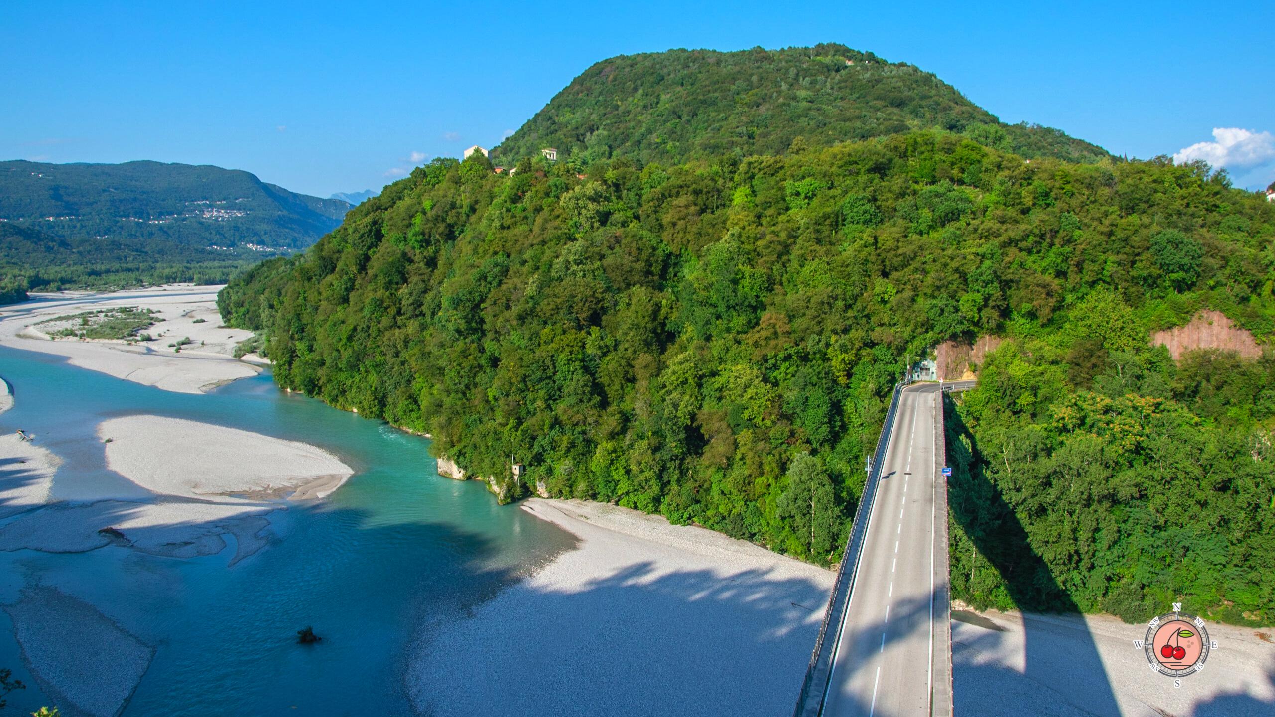 Ponte di Pinzano, Monte Ragogna e Tagliamento