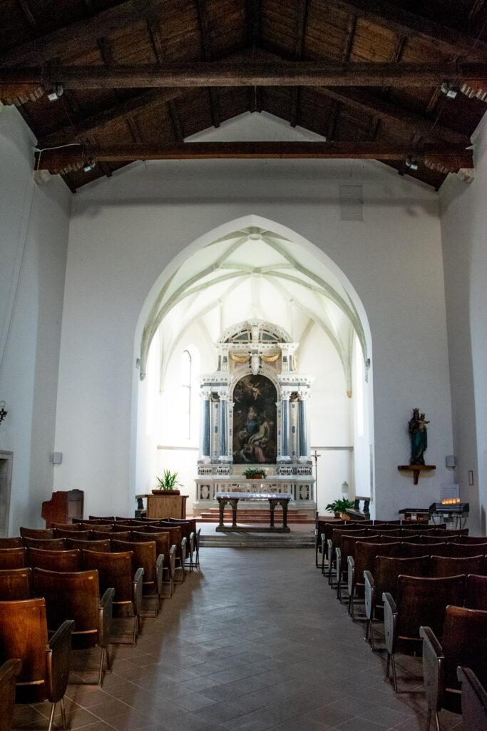 interno della Chiesa tardo-gotica di Madonna della Fratta - San Daniele del Friuli