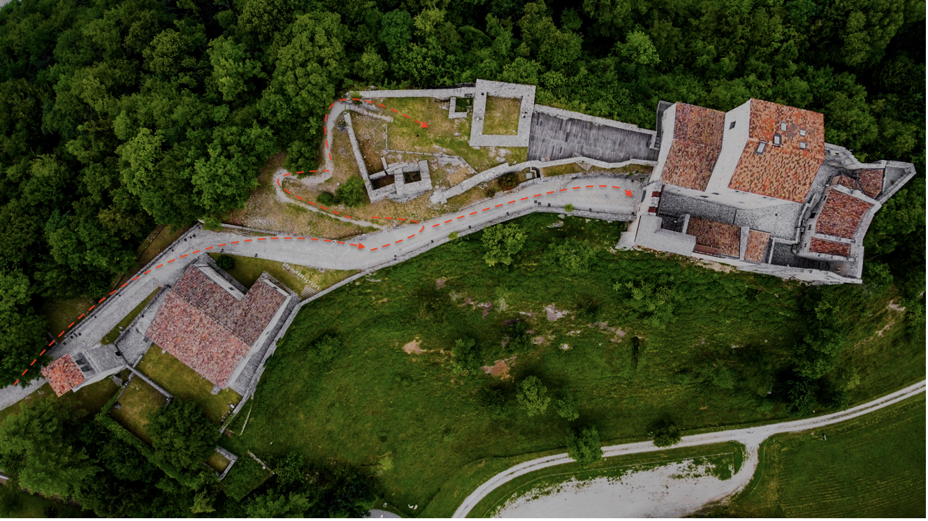 Il Castello di San Pietro a Ragogna in collaborazione con @wildlifeaerial