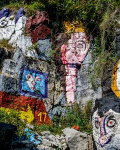 Cave di Rubbio - la cava abitata