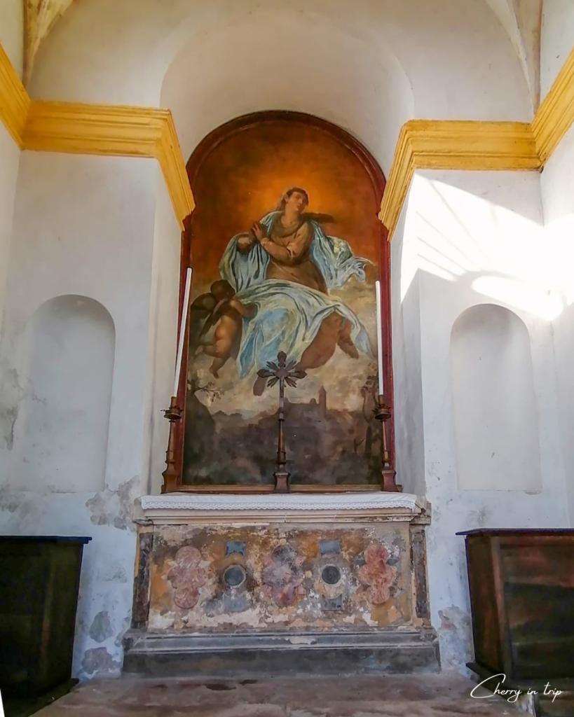 Pala della prima chiesa del Santuario a Monselice