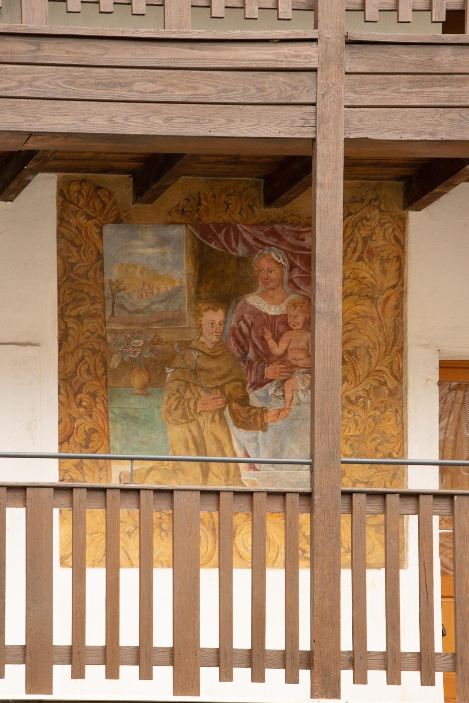 Murales Fratta: La Madonna con Bambino e Sant'Antonio di Padova