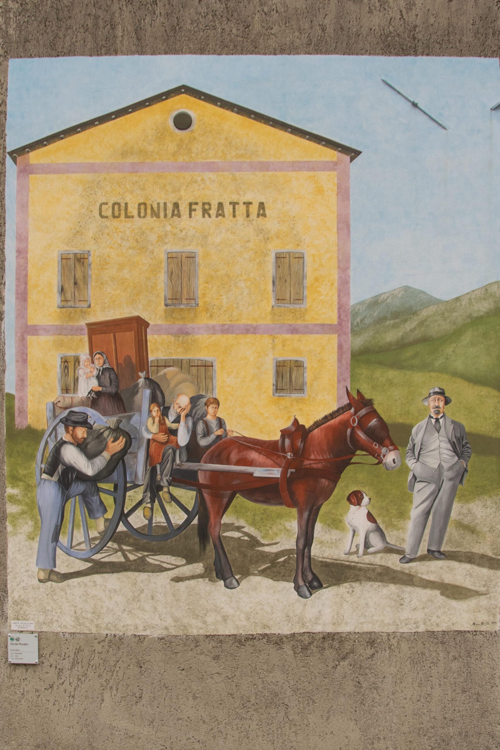 Murales a Fratta: la vita in campagna (vicino ai Laghi di Revine)