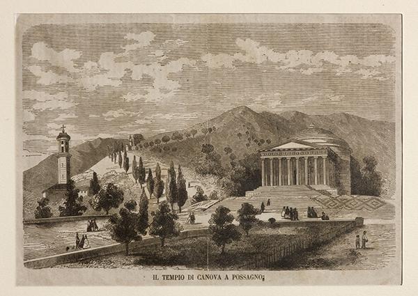 Foto storica del Tempio Canoviano di Possano
